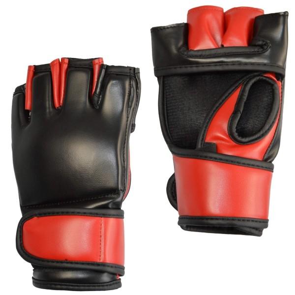 MMA-Handschutz PU schwarz-rot 01