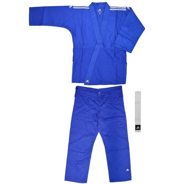 adidas judo club blau weisse streifen