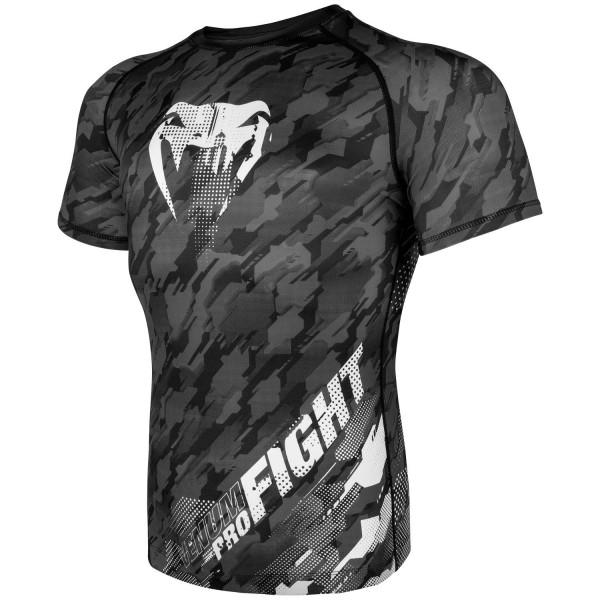 Venum Tecmo Rashguard Shirt grau Kurz 01