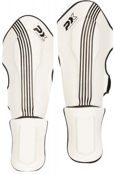 PX Schienbein Spannschutz FIGHT PRO weiß-schwarz