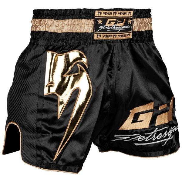 VENUM Thai Shorts Petrosyan schwarz/gold 01
