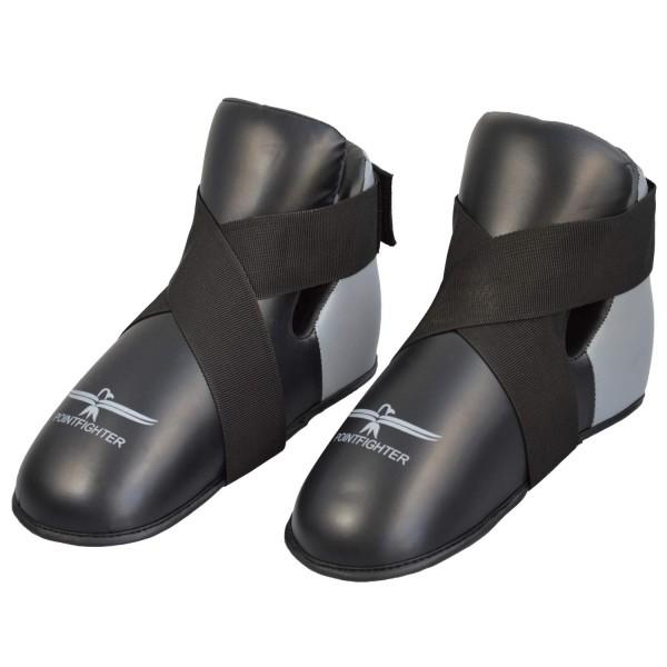 Fußschutz grau-schwarz Zehentasche 01