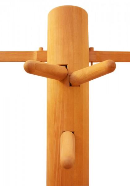 Wing Tsun Holzpuppe Wooden Dummy geölte Buche
